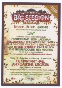 bIG sESSION fESTIVAL FLYER