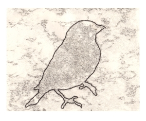 Goldfinch monoprint