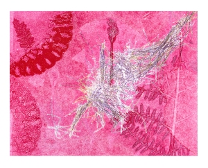 Deer hair and bracken monoprint