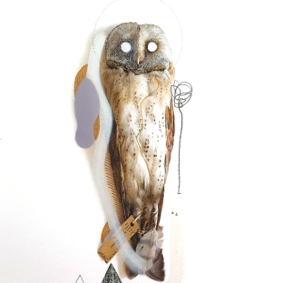 Barn Owl (Mouse). Size: A2