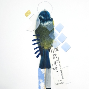 SOLD- Blue Tit (Serenity). Size: A3